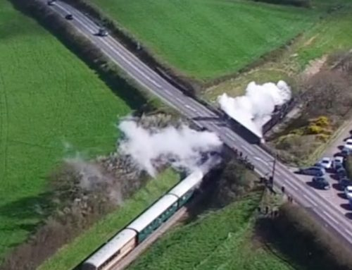 Drone Footage of Swanage Steam Train